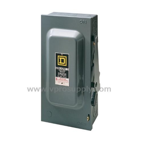 เซฟตี้สวิทช์ HU363RB 3P 100A กันน้ำ 600V