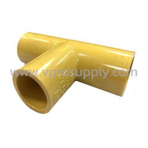 """สามทาง PVC เหลือง 1/2"""" ยกกล่อง"""