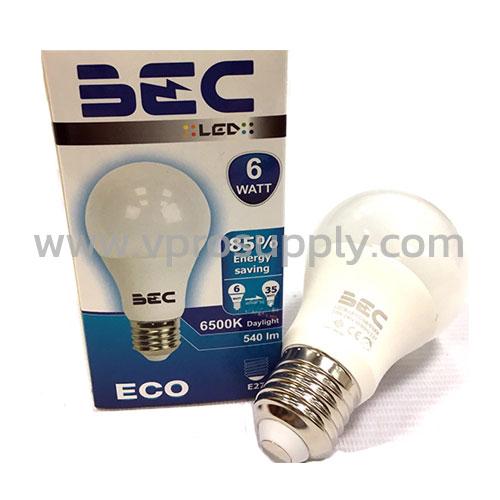 หลอด LED Bulb 6W/WW BEC